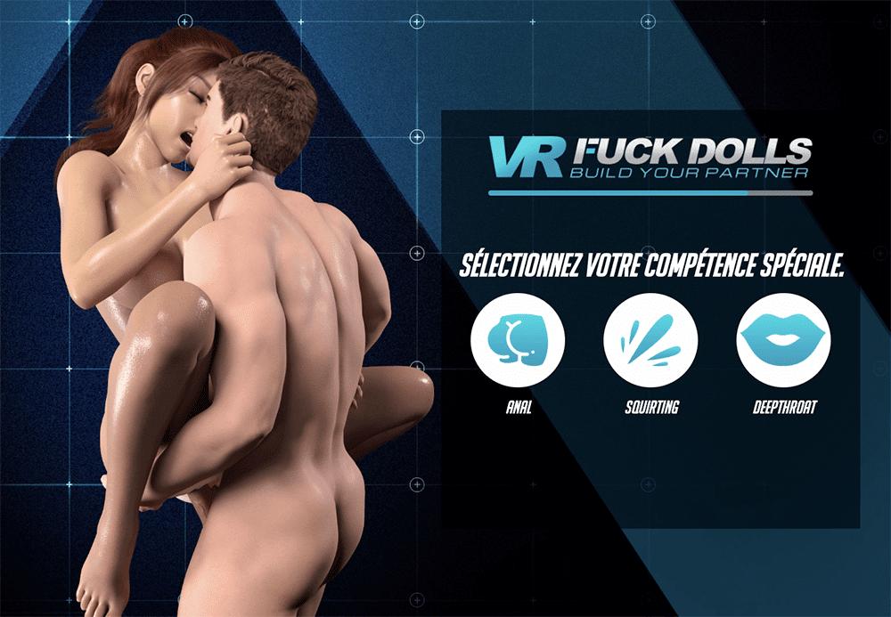 Choix des compétences dans VR Fuck Dolls