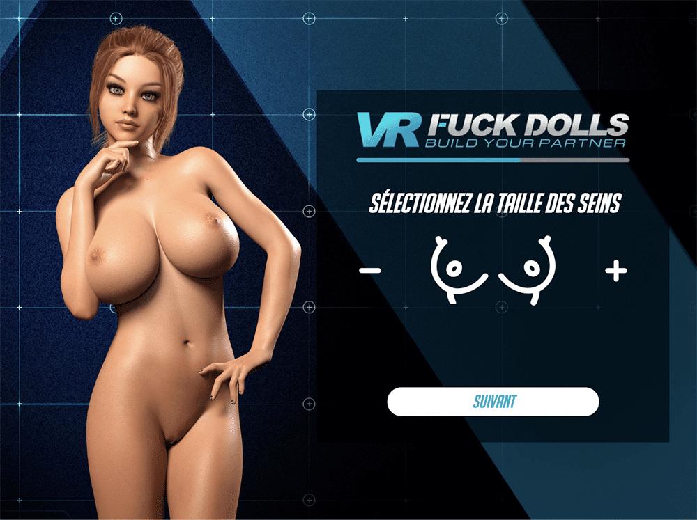 Choix de la taille des seins dans VR Fuck Dolls